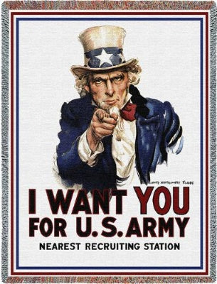 I Want You Uncle Sam (Tapestry Throw)