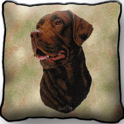 Chocolate Lab Pillow (Pillow)
