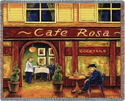 Cafe Rosa (Tapestry Throw)