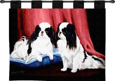Japanese Chin  (Wall Hanging with Wood Rod)