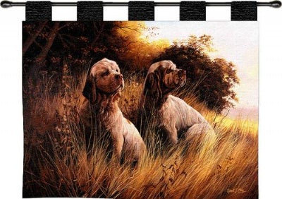 Clumber Spaniel  (Wall Hanging with Wood Rod)