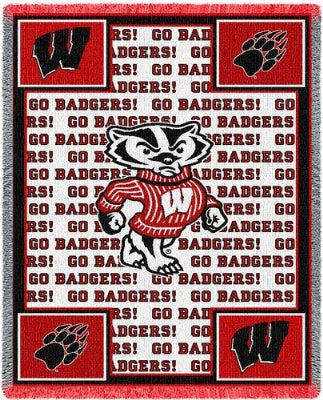 University Wiscon Go Badgers (Afghan)
