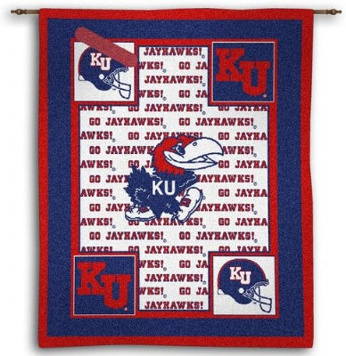 University Kansas Jayhawks Wh (Wall Hanging)