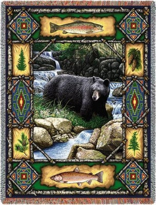 Bear Lodge Tapestry (Tapestry Throw)