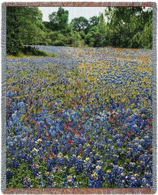 Bluebonnets-Wod 10 (Tapestry Throw)