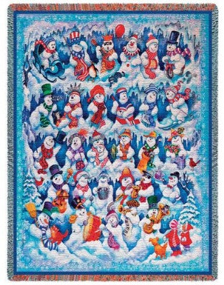 Snow Folks  (Tapestry Throw)