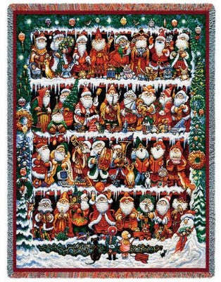 Will The Real Santa (Tapestry Throw)