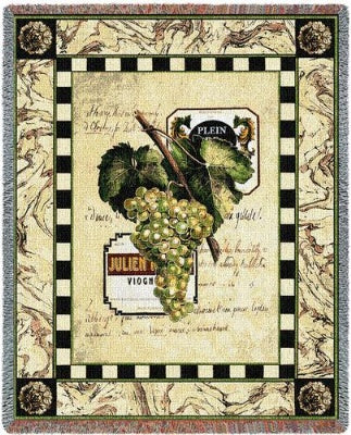 Grapes & Label I (Tapestry Throw)