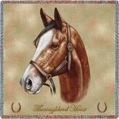 Thoroughbred Horse (Tapestry Throw)