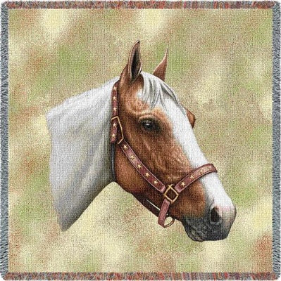 Pinto Horse (Tapestry Throw)
