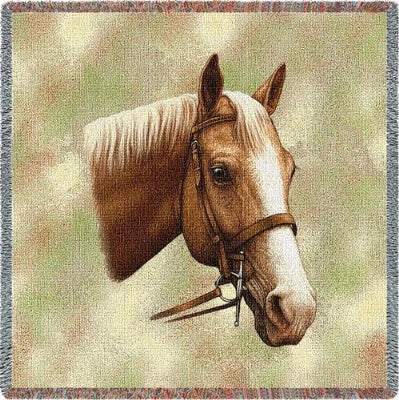 Palomino Horse (Tapestry Throw)