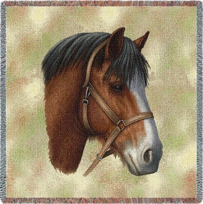 Clydesdale Horse (Tapestry Throw)