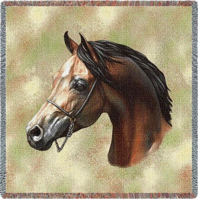 Arabian Horse (Tapestry Throw)