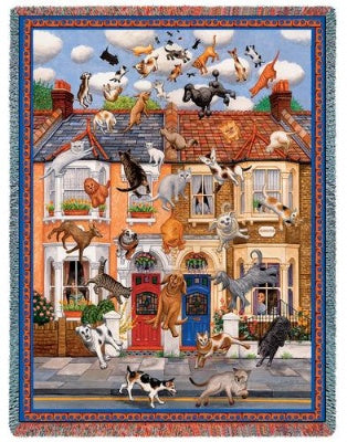 Raining Cats & Dogs (Tapestry Throw)