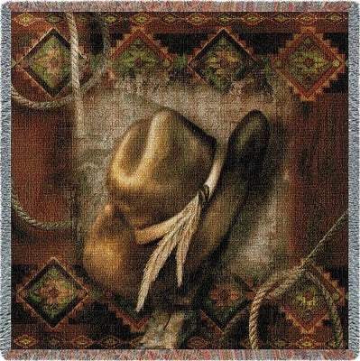 Western Hat (Tapestry Throw)