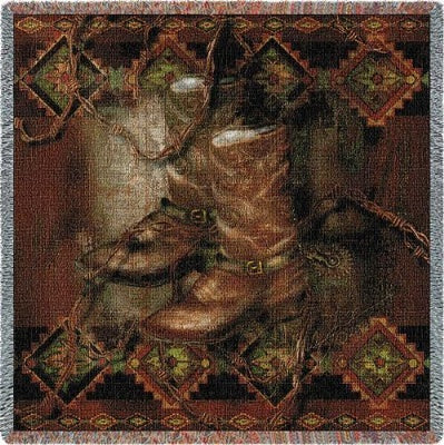 Western Boot (Tapestry Throw)