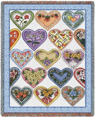 Hearts To You-Wod 10 (Tapestry Throw)