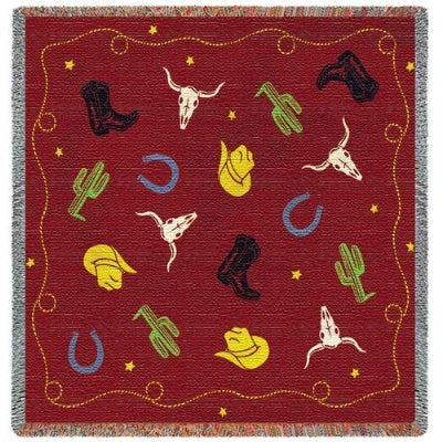 Cowboy Days (Tapestry Throw)