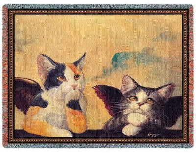 Cherub Cats (Tapestry Throw)