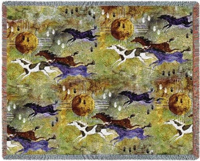Horses Of Zia (Tapestry Throw)
