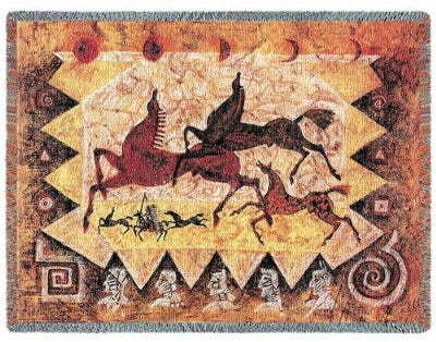 Oglalas Story (Tapestry Throw)