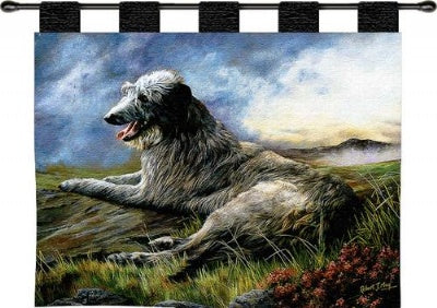 Scottish Deerhound Wh-Woodrod (Wall Hanging)