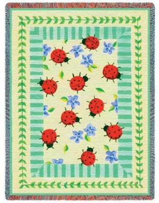 Lady Bug Garden (Tapestry Throw)