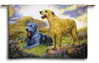 Irish Wolfhound Wh-Woodrod (Wall Hanging)