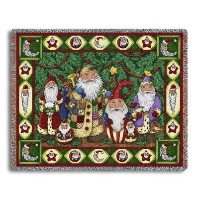 Santa Tree (Tapestry Throw)