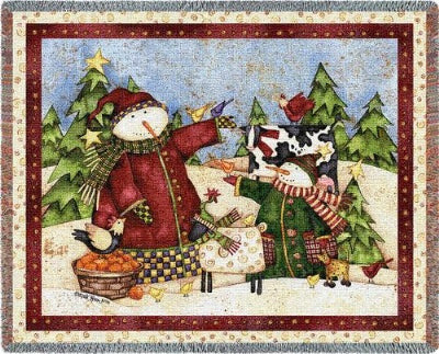 Magic Snowmen (Tapestry Throw)