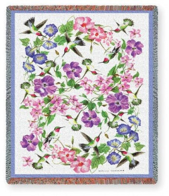 Hummingbirds (Tapestry Throw)