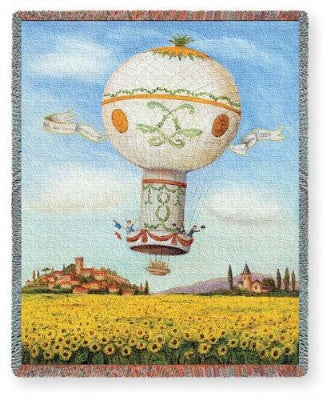 Flight Over Sunflowers (Tapestry Throw)