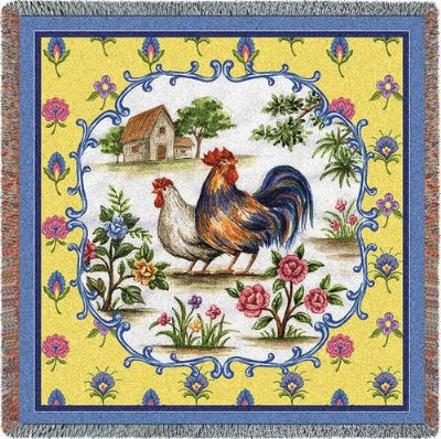 Country Roosters Tapestry (Tapestry Throw)