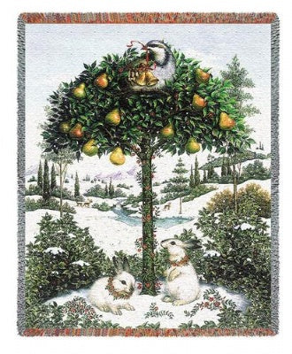 Partridge In A Pear Tree (Tapestry Throw)