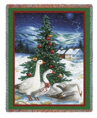 Christmas Goose (Tapestry Throw)