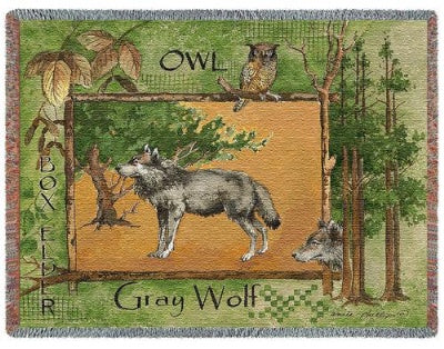 Gray Wolf (Tapestry Throw)