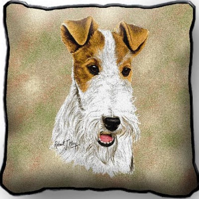 Wire Fox Terrier Pillow (Pillow)