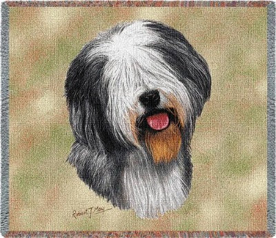 Old English Sheepdog Lp Sq (Tapestry Throw)