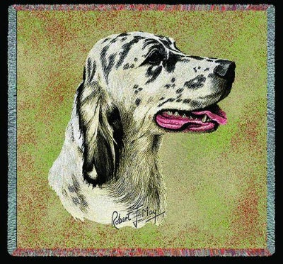 English Setter II Lap Square (Tapestry Throw)