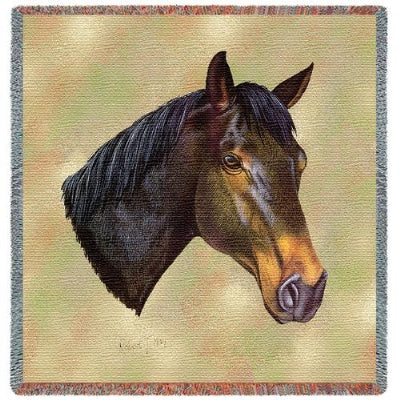 Thoroughbred Lap Sq (Tapestry Throw)