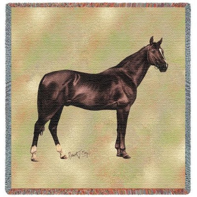 Anglo Arabian Lap Sq (Tapestry Throw)