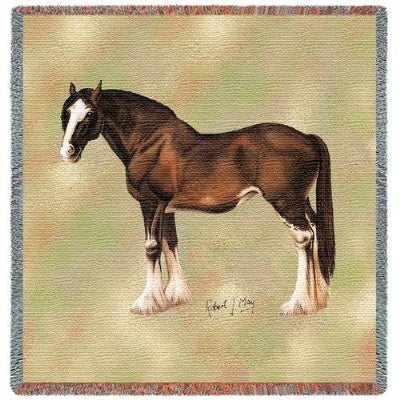 Clydesdale Lap Sq (Tapestry Throw)
