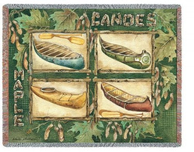 Canoes (Tapestry Throw)