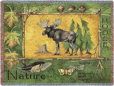 Nature Moose (Tapestry Throw)