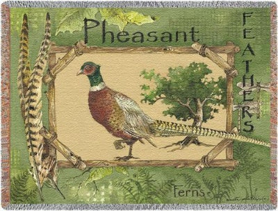 Pheasant Feathers (Tapestry Throw)