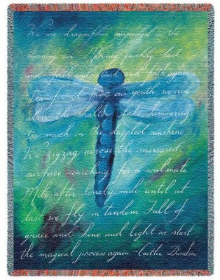 Dragonfly Poem (Tapestry Throw)