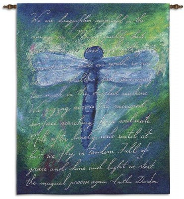 Dragonfly Poem WH Bw/Include Wood Rod (Wall Hanging with Wood Rod)