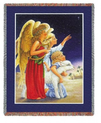 Angels At Night (Tapestry Throw)
