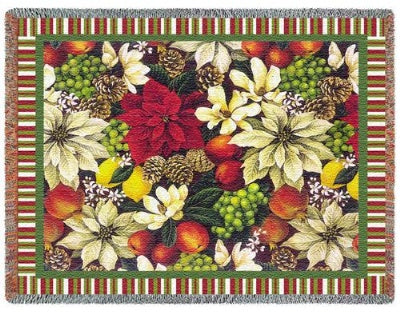 Magnolia Poinsetta (Tapestry Throw)