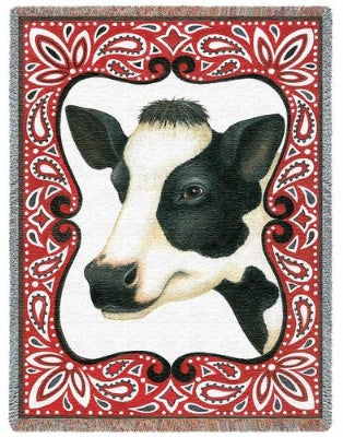 Bandana Cow (Tapestry Throw)